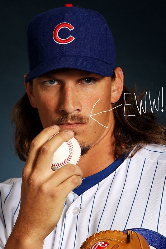 Jeff Samardzija Trash 'Stache Chicago Cubs MLB Trade Rumors Funny