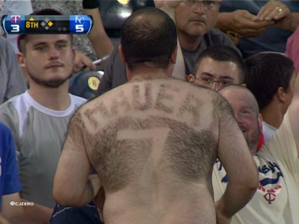 Joe+Mauer+Hairy+Back+Minnesota+Twins+MLB