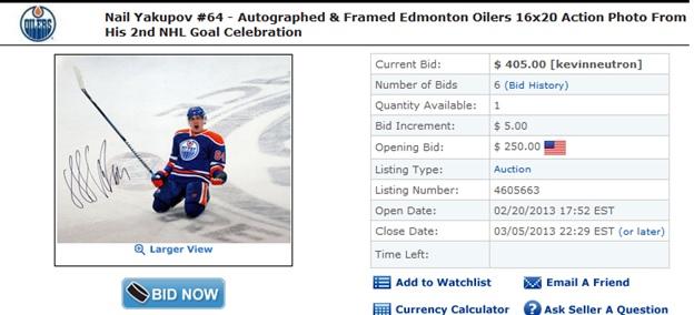 nAIL+yAKUPOV+Autograph+Picture+Edmonton+Oilers