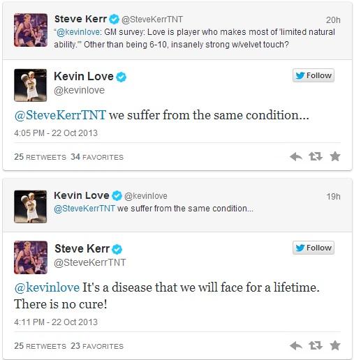 Steve Kerr Kevin Love White NBA