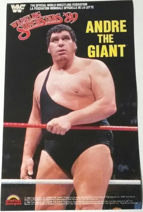 ANDRE THE GIANT WWF LJN POSTER GRAND TOYS BLACK CARD WWE