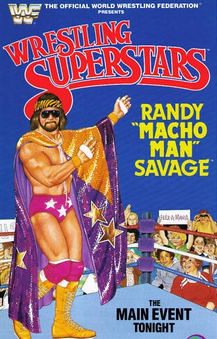 MACHO MAN RANDY SAVAGE WWF LJN POSTER WWE TOYS WRESTLING