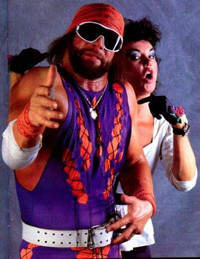 Macho Man Randy Savage Sensational Sherri WWE WWF Dead Wrestler