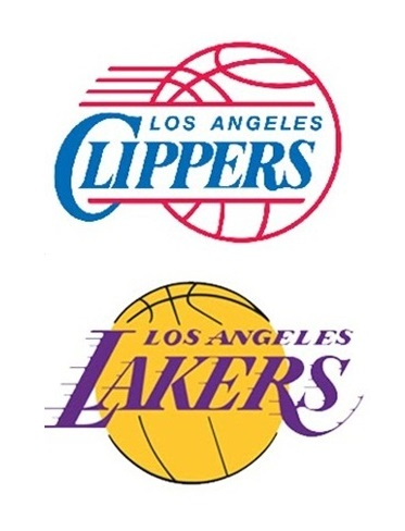Clippers Lakers NBA logos