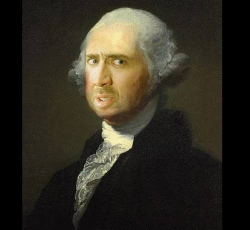 Nicolas Cage George Washington funny hilarious picture parody face faceoff nic