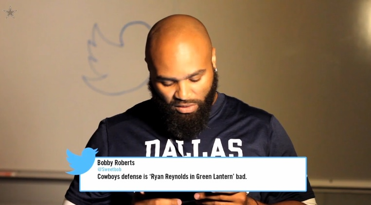 Dallas Cowboys Mean Tweets Video Jimmy Kimmel Tony Romo Anthony Spencer Sweetbob