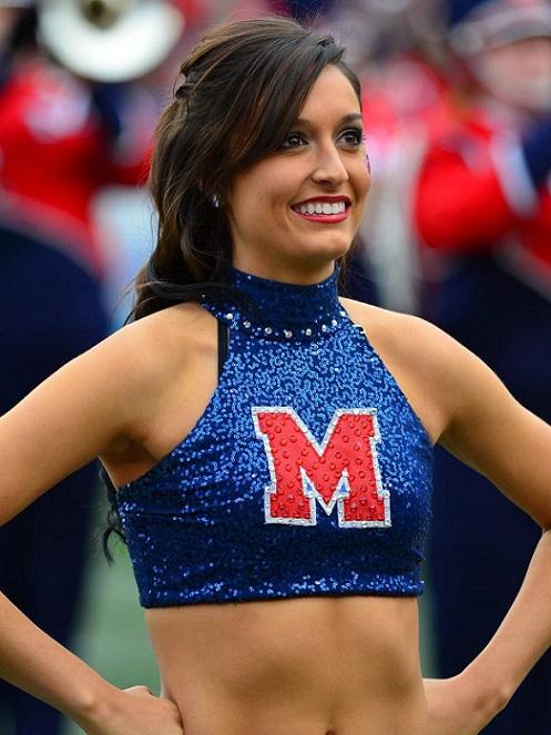 Ole Miss hot cheerleaders brunette ncaa college football