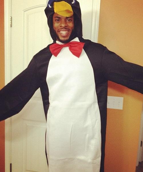 Richard Sherman Penguin suit Seattle Seahawks NFL funny weird odd
