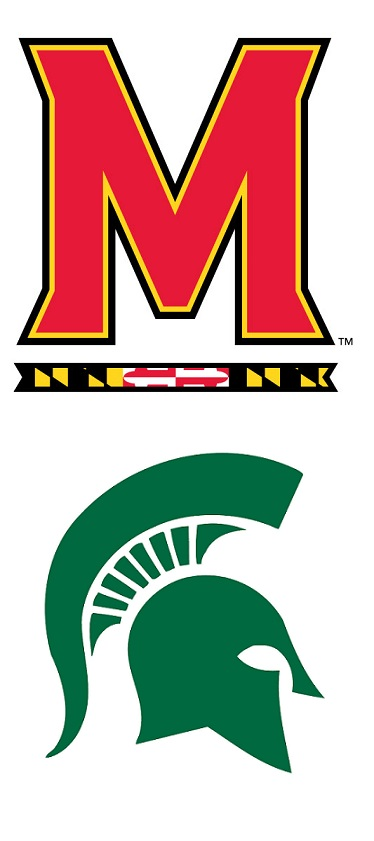 Maryland Terrapins Michigan State Spartans 2014 college football logos