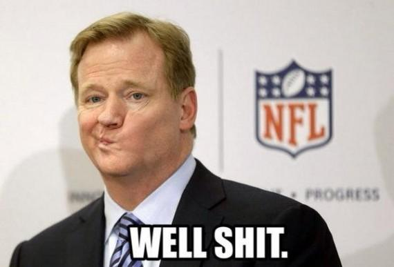 Roger Goodell NFL meme Adrian Peterson Well Shit funny dumb stupid asshole douche