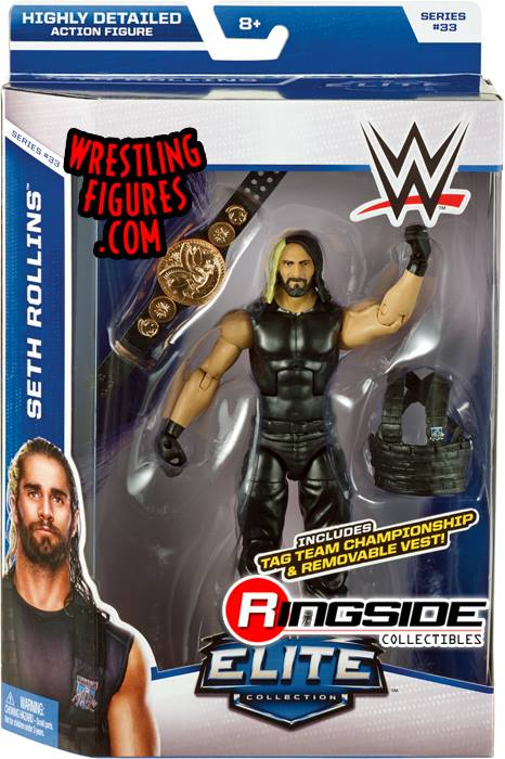 Seth Rollins WWE Elite 33 The Shield tag title wrestling toy