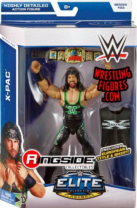 X-Pac WWE Elite 33 Degeneration X DX European title wrestling toy