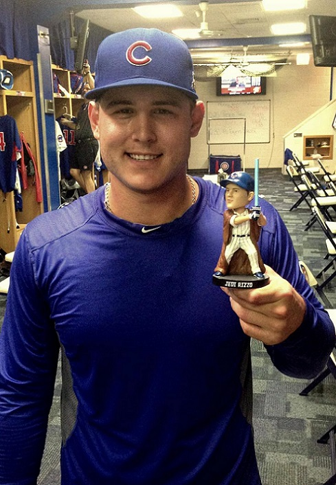 2015 Top 50 Fantasy First Baseman Anthony Rizzo funny weird shirtless Chicago Cubs
