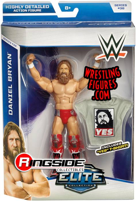 Daniel Bryan YES shirt WWE Elite series 38 Mattel wrestling toys
