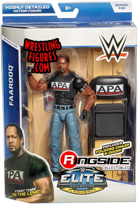 Farooq APA Ron Simmons WWE Elite series 38 Mattel Flashback wrestling toys