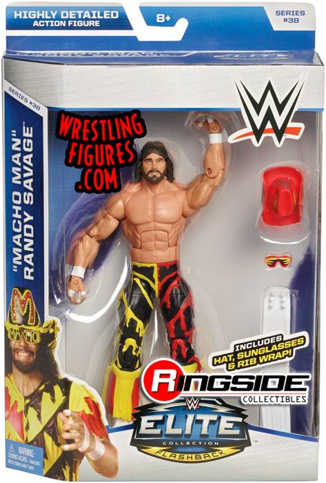 Macho Man Randy Savage WCW WWE Elite series 38 Mattel Flashback wrestling toys