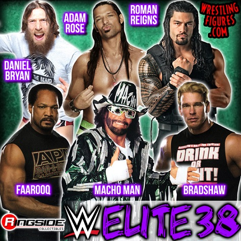 wwe elite series 38 macho man farooq bradshaw daniel bryan roman reigns adam rose wrestling toys 2015