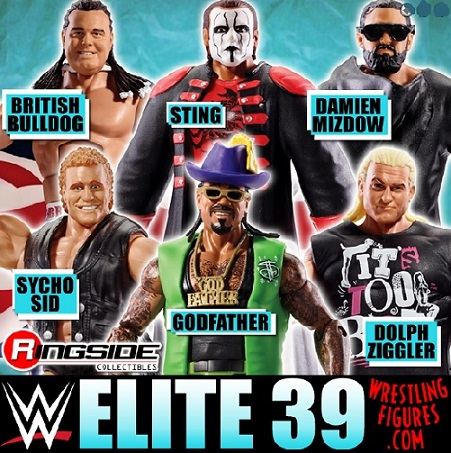 WWE Elite 39 full set 2015 2016 dolph bulldog sid mizdow sting godfather Mattel