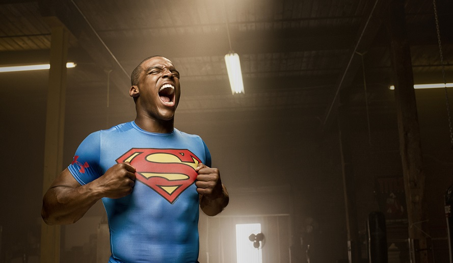 supercam cam newton superman carolina panthers