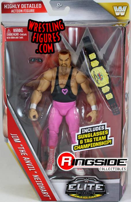 Elite series 43 Jim The Anvil Neidhart - The Hart Foundation wrestling figures toy crazy WWE Mattel WWF