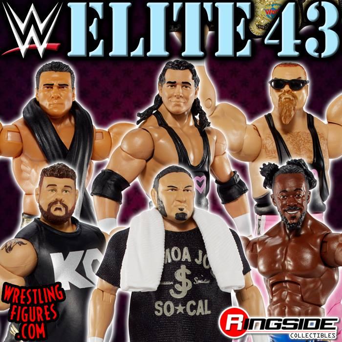 Elite series 43 WWE Mattel Kevin Owens Samoa Joe Hart Foundation Alberto Del Rio Kofi Kingston toys