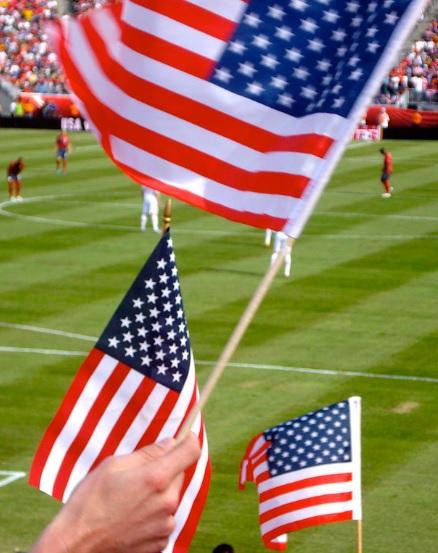 America flag soccer