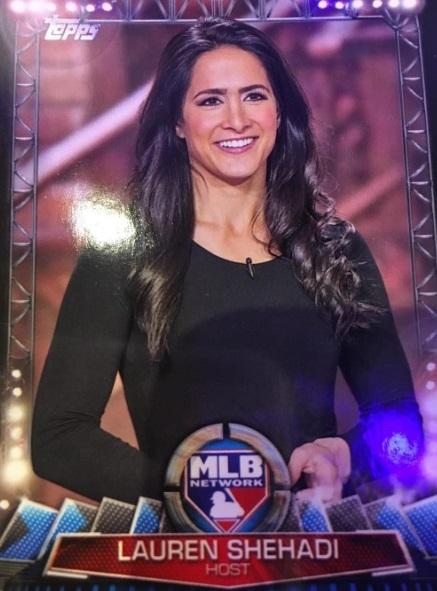 Lauren Shehadi MLB Network brunette hot prettyTopps baseball card beautiful