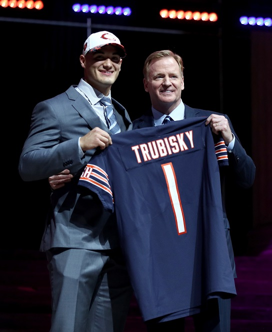 Mitchell Trubisky Chicago Bears 2017 NFL Draft Roger Goodell