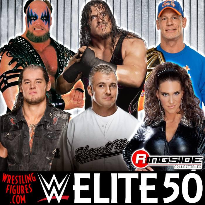 WWE Elite 50 Shane McMahon Stephanie McMahon Baron Corbin John Cena Warlord Rhyno Mattel toys