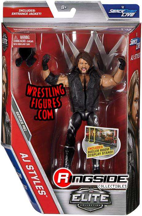 WWE Elite 51 AJ Styles Smackdown LIVE action figures toys toy crazy