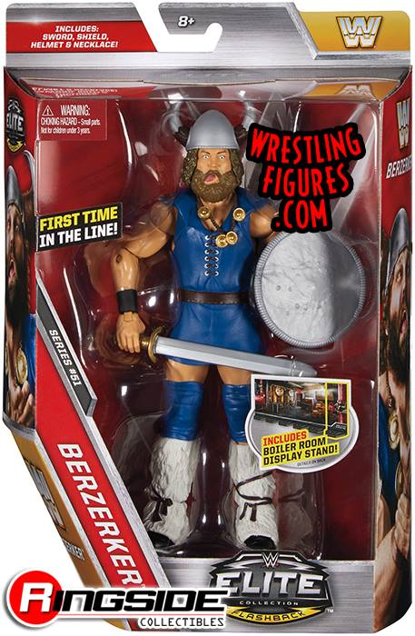 WWE Elite 51 Berzerker WWF Flashback action figures toys toy crazy