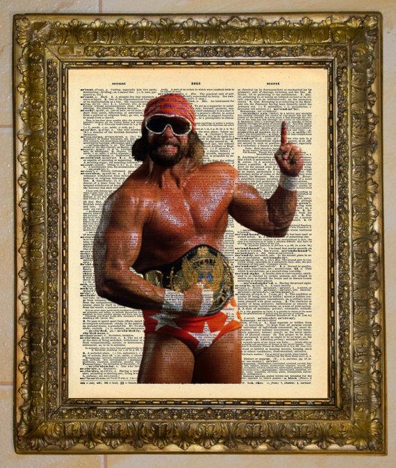 Macho+Man+Newspaper+Art+Print+Pop+WWE+Randy+Savage