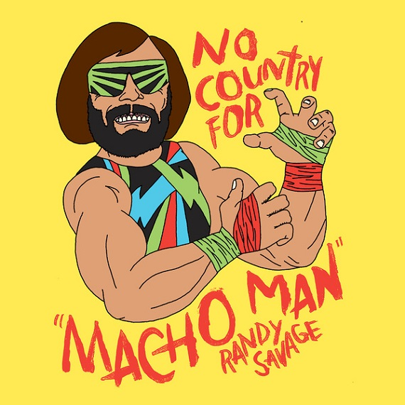 Macho+Man+Pop+Art+Print+No+Country+For+Old+Men+WWE