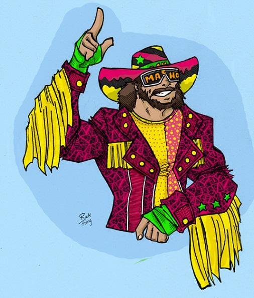 Macho+Man+Pop+Art+Print+Rick+Fury+WWE+Old+School+Randy+Savage