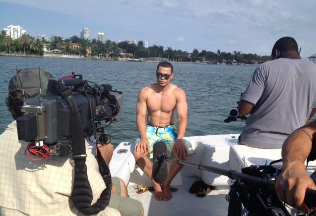Giancarlo+Stanton+shirtless+Miami+Marlins