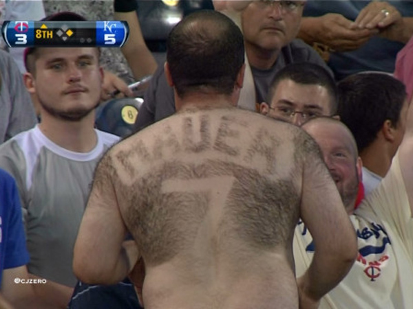 Joe+Mauer+Hairy+Back+Minnesota+Twins+MLB