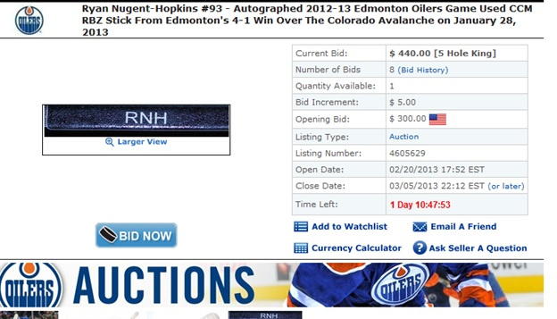 Ryan=Nugent-Hopkins+Autograph+Oilers