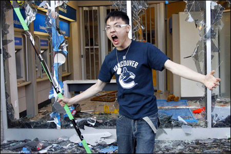 Angry Asian Vancouver Canucks Fan RIOT