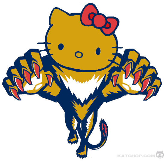florida panthers hello kitty logo nhl