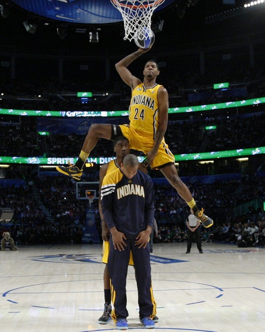 Paul George Dunk Contest Indiana Pacers NBA