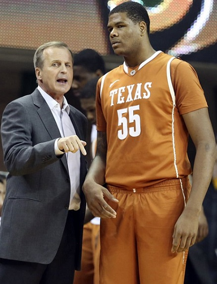 Cameron Ridley Rick Barnes Texas Longhorns 2014 NCAA Tournament