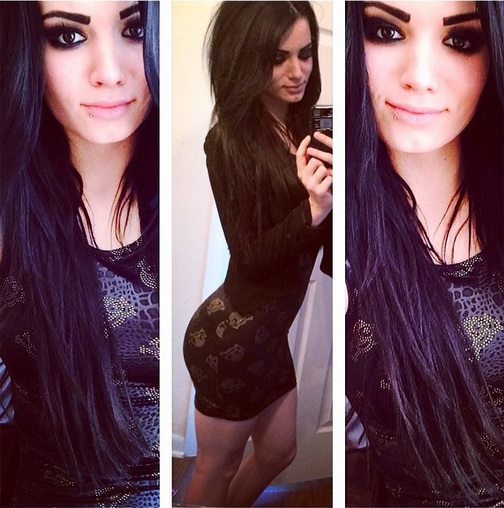 Paige Ass WWE Diva NXT Instagram Selfie Dress Britani Knight