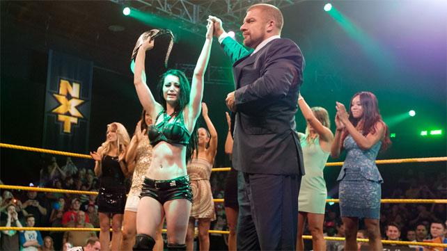 WWE Paige NXT Women's Champion Triple H Diva Britani knight