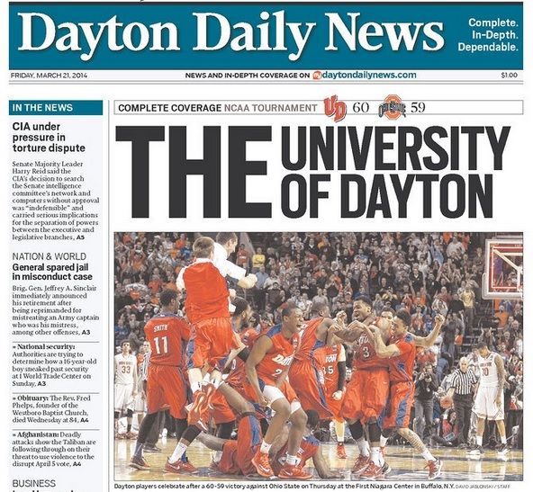 Dayton Daily News THE University of Dayton headline