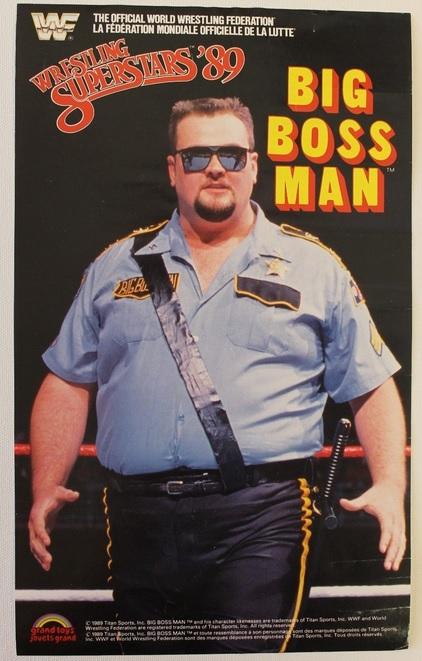 BIG BOSS MAN WWF LJN POSTER WWE GRAND TOYS