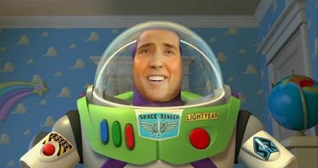 Nicolas Cage Buzz Lightyear funny weird parody hilarious strange nic