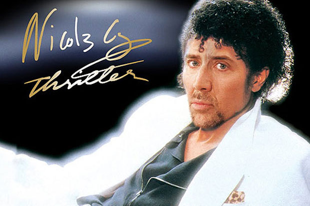 Nicolas Cage Michael Jackson Thriller face faceoff funny weird strange picture nic