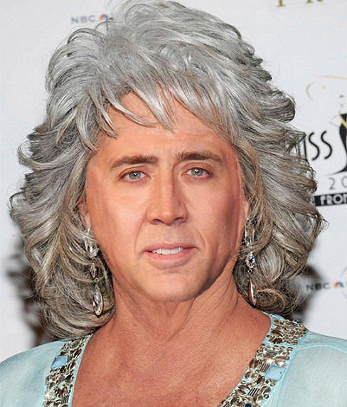 Nicolas Cage Paula Deen hilarious funny face faceoff switch nic