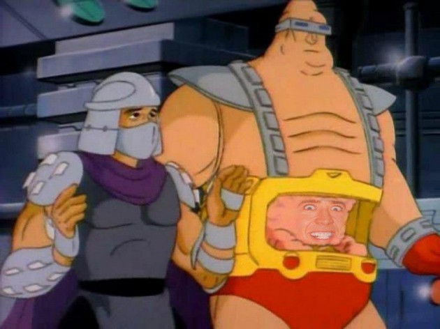 Nicolas Cage TMNT Shredder funny face hilarious picture faceoff nic