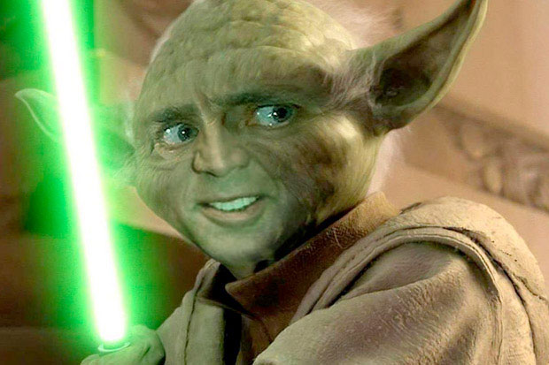 Nicolas Cage Yoda funny weird face faceoff switch parody nic Star Wars